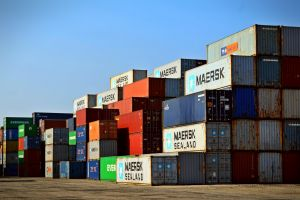 commerce shipment export cargo container sky container industry storage warehouse commercial