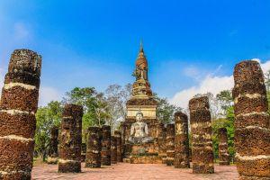 culture statue building thailand sukothai ancient world history heritage unesco