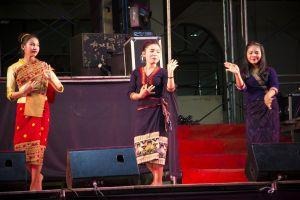dance texture lao female ethnicity person asian champasak dress sunshade