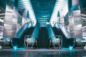 dark blue blue subway metro underground mate dark technology escalator urban