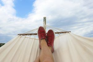daydreaming vacation relaxing red sneakers relaxed sun clear sky sunny summer sky