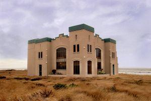 daylight architecture building landscape sun desert sky