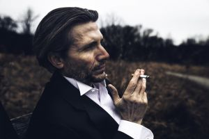 daylight hairstyle cigarette side view focus close-up landscape recreation blur smoker
