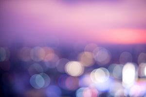 defocused blurred round out blur lights colors purple