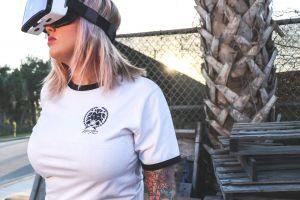 device technology girl leisure virtual reality goggles fashion wear virtual reality glasses modern lady