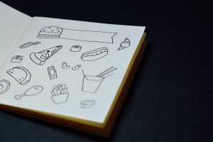 draw card note tool craft sketching decorative background composition education