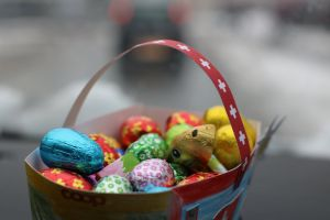 easter decorations easter bunny cold close to love blur delicious blurry focus cool