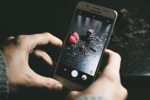 electronics chocolate raspberries wireless food photography blur multimedia cellphone cell phone cellular