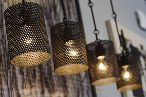 energy indoors lamp lantern light bulbs hanging close-up light fixture bright light