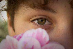 eye green eyes flower