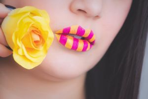 fashion person flower cute detail rose girl close-up hand nose