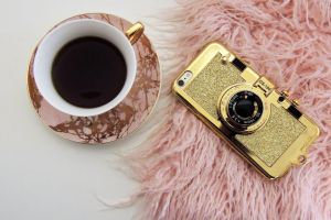 fur saucer caffeine gold cup black coffee drink smartphone cup of coffee iphone
