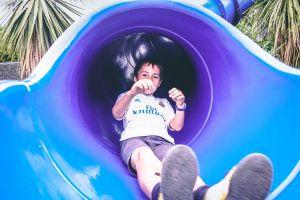 game play sky blue child kid smile boy fun slide