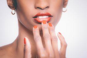 girl photoshoot beauty earrings young model attractive lips pretty look