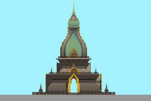 golden monk life buddhist sky asean temple god enormous worship