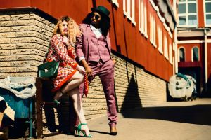 hair colors wear urban portrait fashion pretty heels pose adult