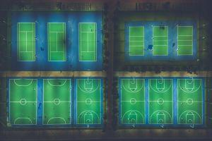 high angle shot shape park color aerial shot aerial view light sport basketball court illustration