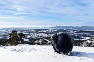 high weather season person snowy freezing winter frost sky man