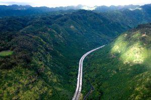 highway mountains hawaii