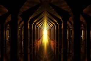 hope architectural design golden color lights