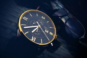 hours numbers minutes seconds gold wristwatch technology fashion time sunglasses