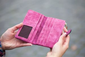 human wallet purple shopping person girl woman texture leisure nails