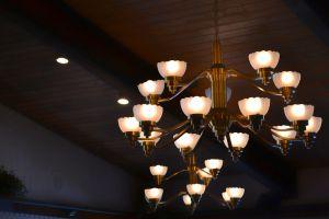 illuminated lightbulbs design ceiling lamp bright wood lights chandelier wooden
