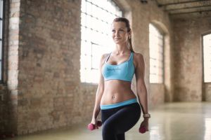 indoors body model daylight person gym lady girl wear focus