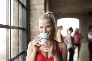 indoors woman fitness pretty beauty drink wear female cup mug