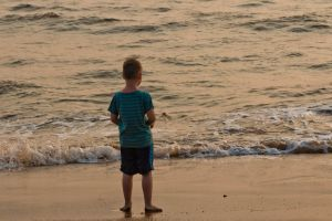 kid ocean beach