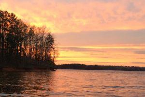 lake lanier lake vacation sunset boating georgia