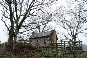 landscape country log cabin georgia old house