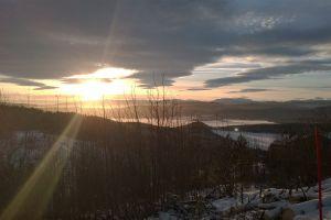 landscape sun clouds dawn sunset scenic weather sunrays sunrise nature