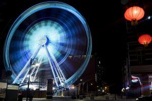 lanterns entertainment city festival architecture motion night blur exhilaration dark