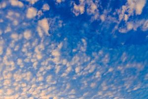 light cumulus cloudscape pattern fluffy high summer weather purity energy