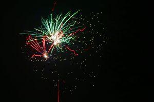 light lights new year's eve red firework pyrotechnics green