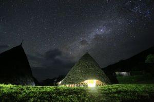 lights galaxy sky scenic landscape nature constellation dark astronomy starry sky