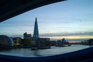 london sunset theshard