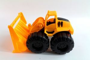 machine vehicle plastic model transportation yellow industry car industrial building