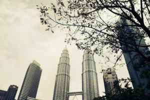malaysia cloudy holiday vacation petronas twin towers photography