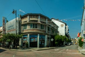 malaysia georgetown style food street panorama road penang culture architect