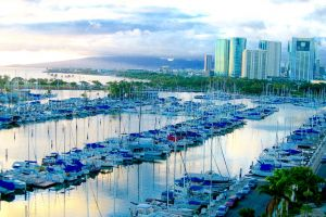 marina water ocean urban daytime buildings cityscape harbor waterfront dock