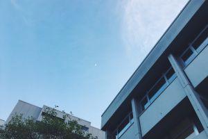 moon blue sky sky