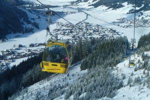 mountain gondola valley winter