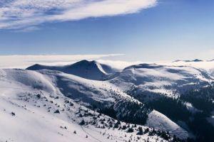 mountain panoramic snow blue sky alps panorama panoramic view austria