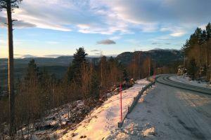 mountain winter landscape mountains landscape road winter snowy norway