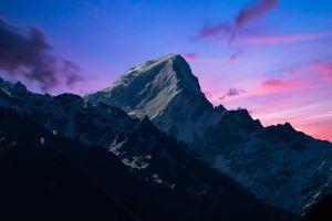 mountains sun sunset clouds snow kannaur himachal sky rocks