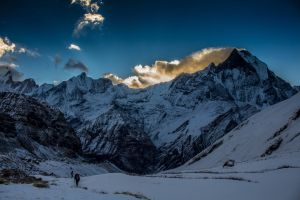 mountains winter people frost mountaineering clouds sky cold mountain peak snow capped mountains