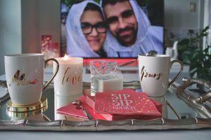mugs people husband couple woman wife tray girl man candlelight