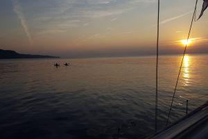 nature trail #mobilechallenge #outdoorchallenge couple morning sun kayak sun sea